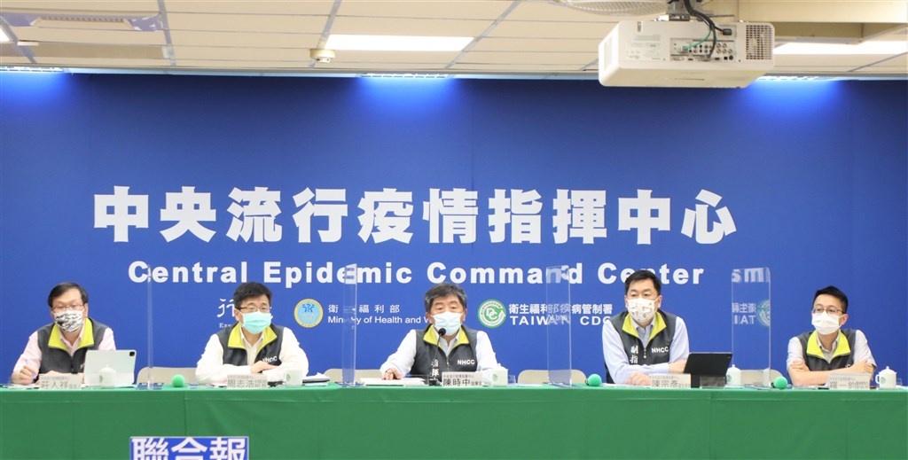 CECC officials at the press briefing on Tuesday. Photo courtesy of the CECC