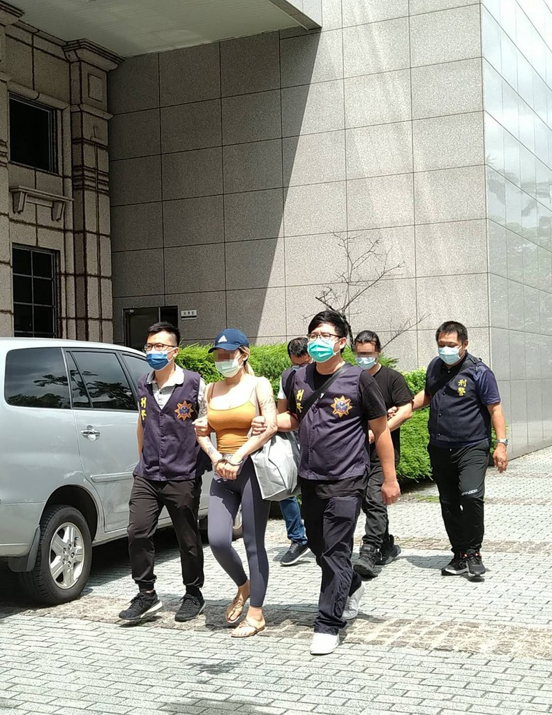 The woman who was the alleged ring leader is in police custody. Photo courtesy of the police