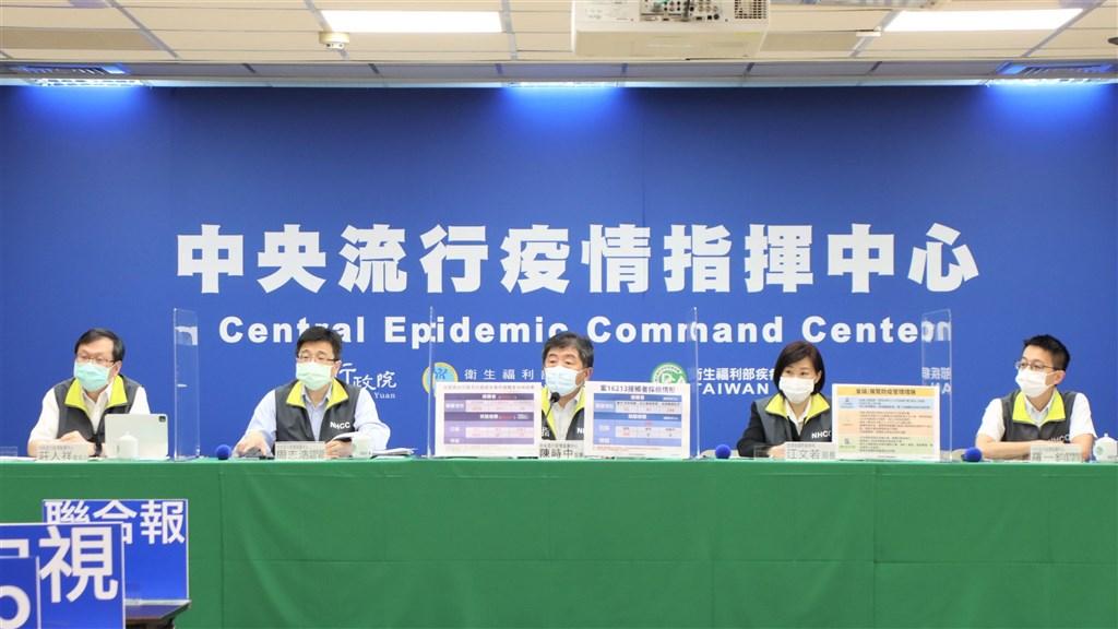 CECC officials at the COVID-19 press briefing on Sunday. Photo courtesy of the CECC