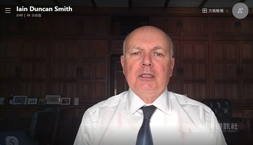 Sir Iain Duncan Smith. Image captured during an interview with CNA