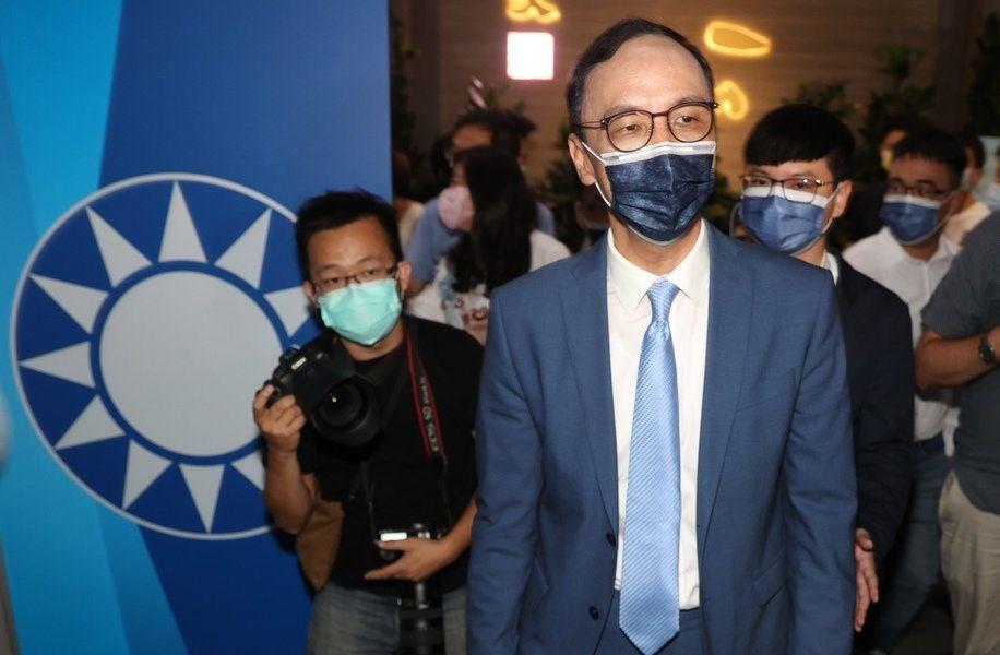 Eric Chu (front). CNA photo Sept. 25, 2021