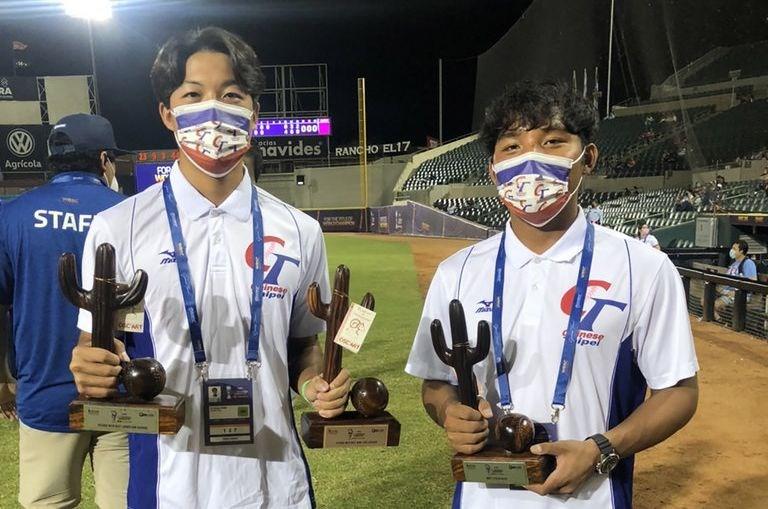 Taiwanese player Chen Yu-hung (left). Photo courtesy of the Chinese Taipei Baseball Association