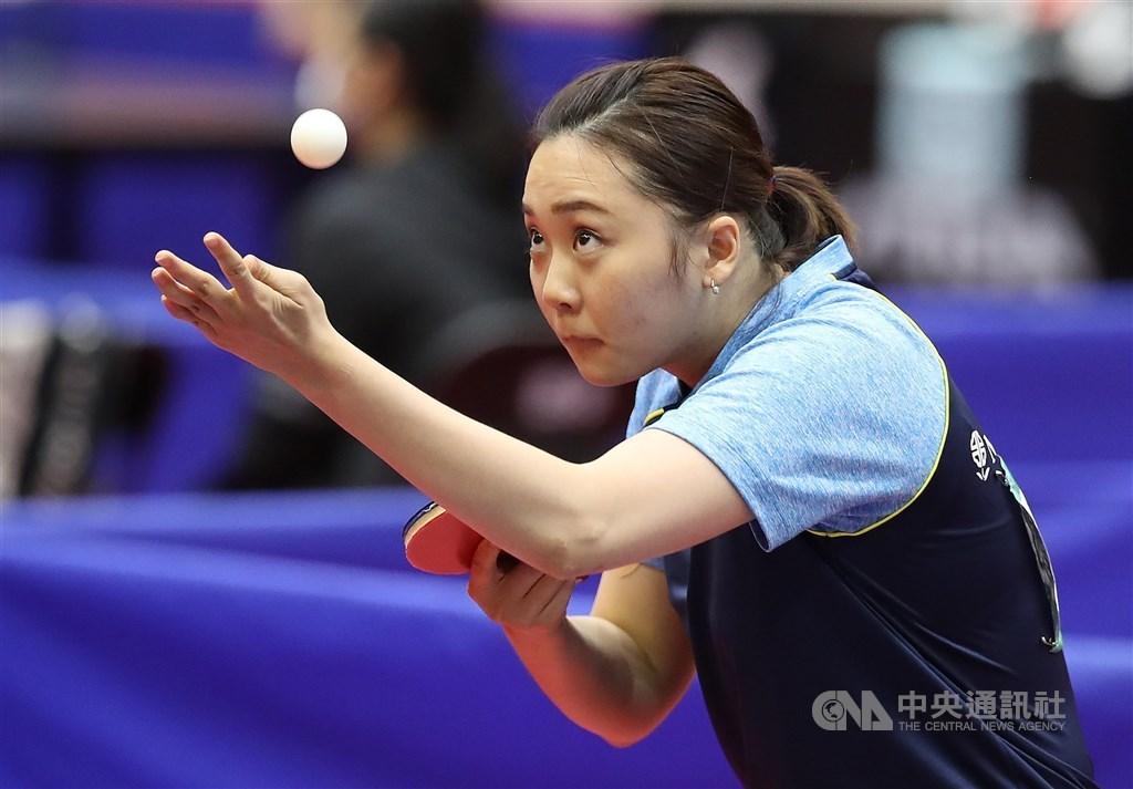 Table tennis player Cheng Hsien-tzu. CNA file photo