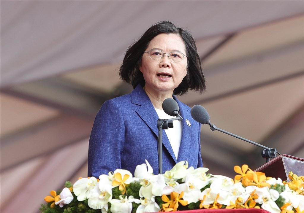 President Tsai Ing-wen. CNA photo Oct. 10, 2021
