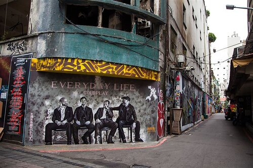 Taipei 'Coldplay' mural painting becomes major selfie hotspot