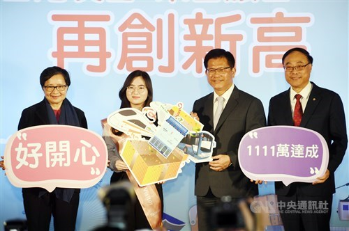 Taiwan sets new mark for overseas visitor arrivals