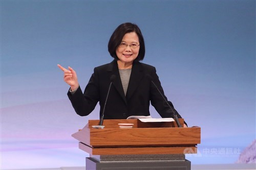 Taiwan president: Island's democracy under threat from China
