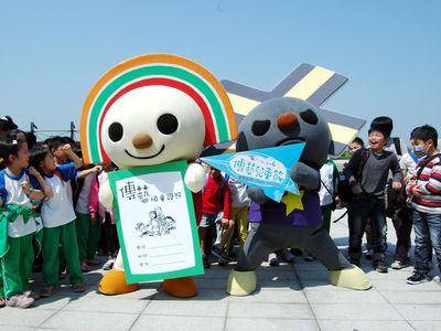 台湾セブンイレブンの「OPENちゃん」、札幌雪祭りに