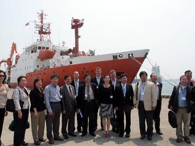 """台湾、""""燃える氷""""メタンハイドレート探査でドイツと提携"""