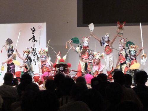 台湾・台南の「八家将」、日本の地域伝統芸能大会で好評