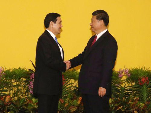 <馬・習会談>馬英九総統、握手の感想聞かれ「いい感じ」/台湾