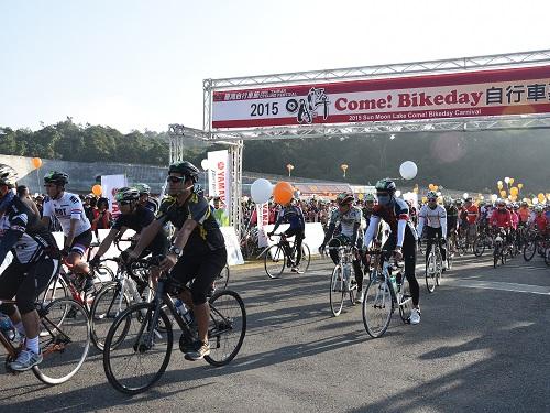 台湾・日月潭でサイクリングフェス  日本の自転車道PRも