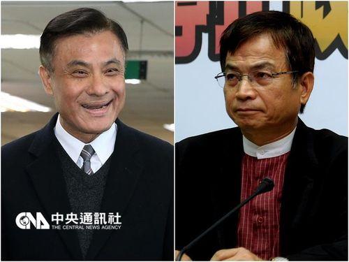民進党と国民党それぞれの立法院長候補、蘇嘉全氏(左)と頼士葆氏