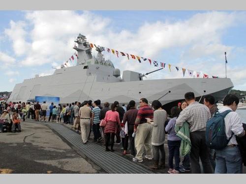 中国大陸に対抗する台湾の「空母キラー」、基隆で一般公開  就役後初