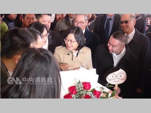 蔡英文総統、米ヒューストンに到着  現地の華僑らと交流/台湾