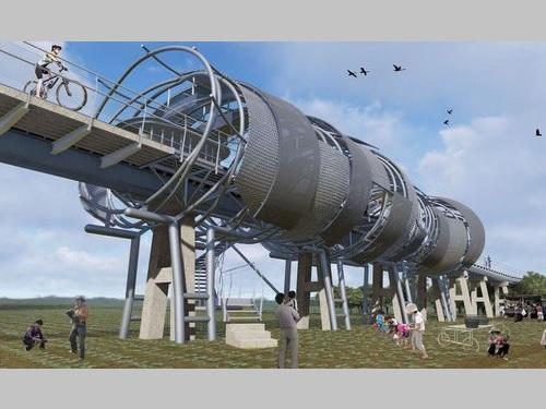 北港復興鉄橋修復後のイメージ図