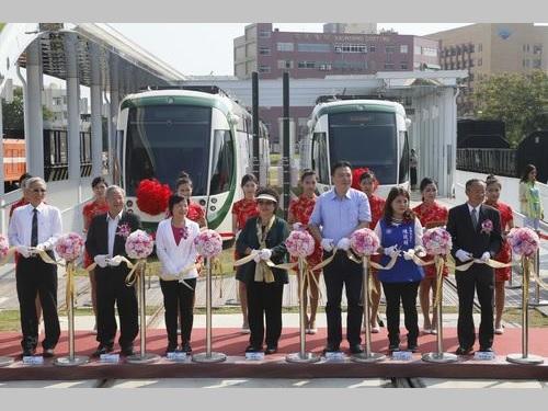 高雄LRT第1期区間全線開業  哈瑪星駅でセレモニー/台湾