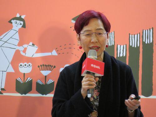 「台北国際ブックフェア」で講演を行う上野千鶴子さん