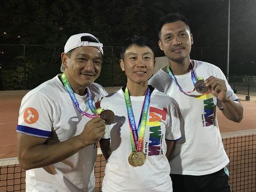 ゲイゲームズでメダルを獲得した台湾の選手たち