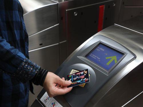 7日までに試験販売が始まった台北メトロ(MRT)の団体向けICカード乗車券=同社提供