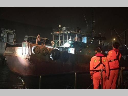 台湾の海巡署が拿捕した中国漁船=同署第12海巡隊提供
