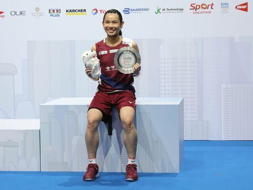 バドミントンのシンガポール・オープン女子シングルス決勝で優勝した戴資穎