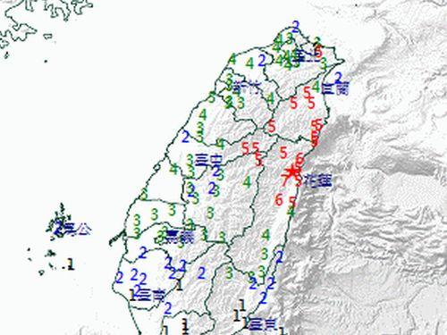 花蓮で震度7 台湾全土で揺れ