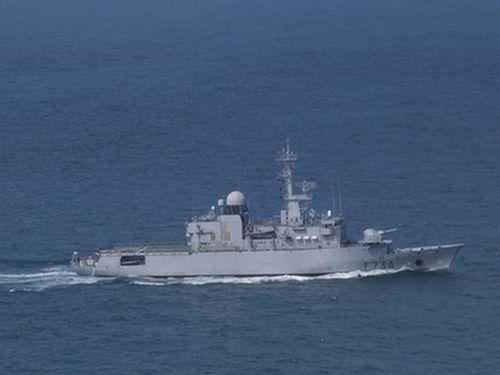 仏海軍のフリゲート艦「バンデミエール」=資料写真、中新社提供