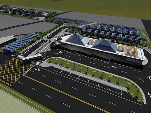 水門バスターミナルの完成イメージ=屏東県政府提供