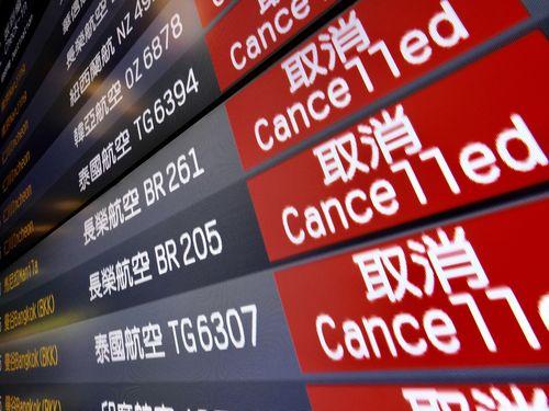 交通部によると、20日のスト初日から27日までの欠航便は738便に達し、15万3164人が影響を受けた=資料写真