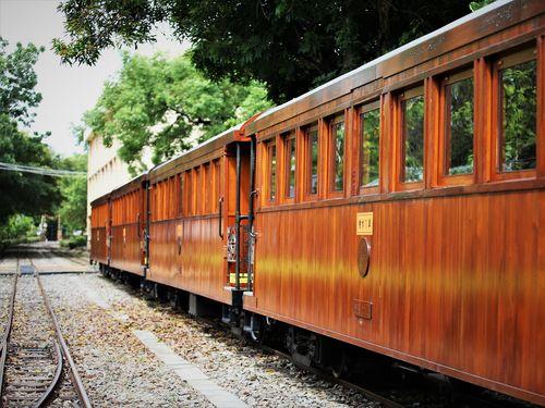 6日から運行が始まったヒノキ列車=阿里山林業鉄路・文化資産管理処提供