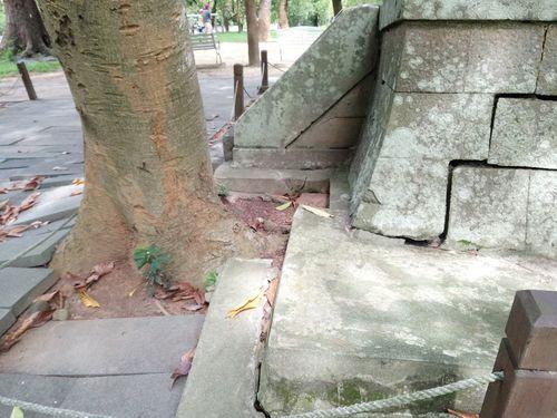 旧嘉義神社の基壇=嘉義市文化局提供