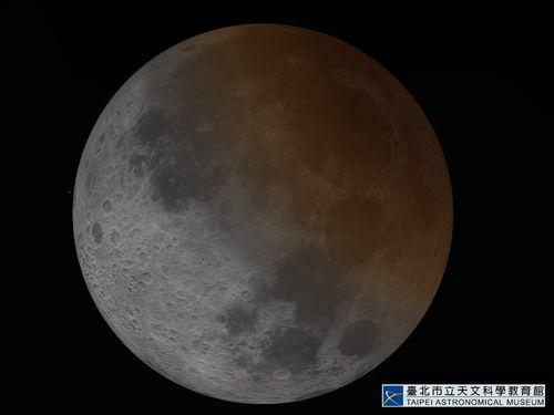 部分月食=台北市天文館提供