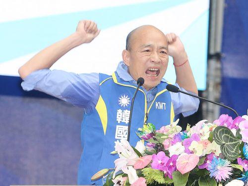 国民党の総統選公認候補に正式に指名された韓国瑜高雄市長