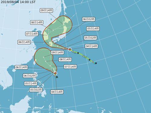 台風9号が発生、8~9日に台湾に影響の恐れ=中央気象局提供