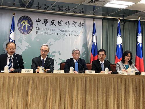 台米による「太平洋対話」の開催を発表する外交部の徐斯倹・政務次長(中央)