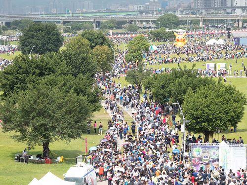 台湾ポケGO、一日10万人超来場=新北市政府観光旅游局提供