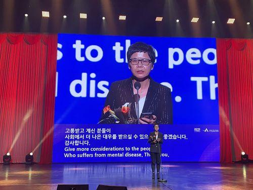台湾の脚本家ルー・シーユエン(呂蒔媛)=公共テレビ提供