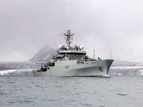 英海軍の測量船エンタープライズ(H88)=同軍のHPから