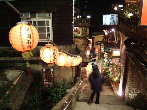 日本人にも人気の観光スポット、新北市九フン。フンはにんべんに分=資料写真