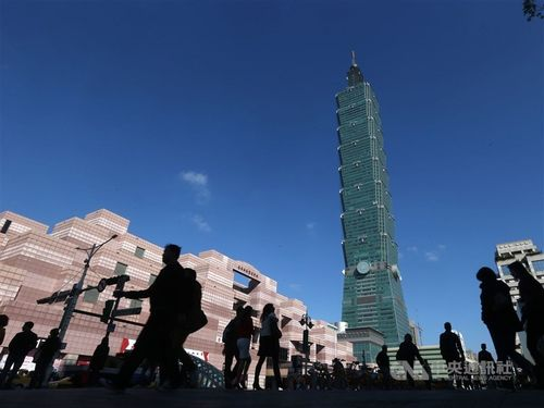 超高層ビル「台北101」周辺=資料写真