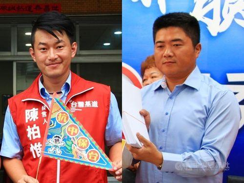 陳柏惟氏(左)と顔寛恒氏