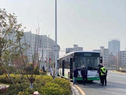 武漢にいる台湾人の帰国のために用意された大型バス