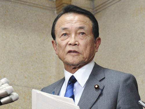 日本の麻生太郎副総理兼財務大臣=共同通信社提供