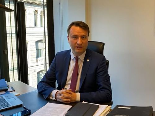 ドイツ連邦議員のマーク・ハウプトマン氏=駐ドイツ台北代表処のフェイスブックから