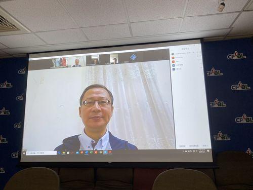台湾プロ野球4球団GMとのテレビ会議を終え、無観客試合の実施などについて説明する呉志揚CPBL会長