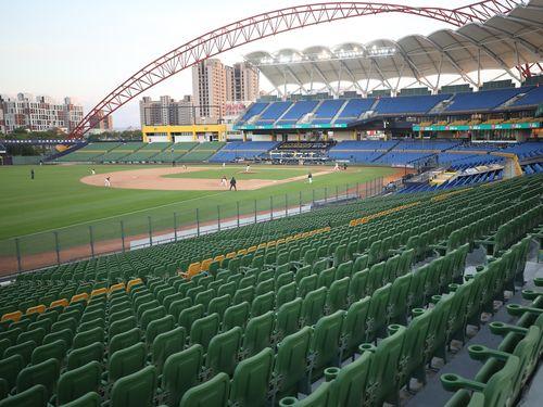 無観客で開催された台湾プロ野球の中信対統一戦