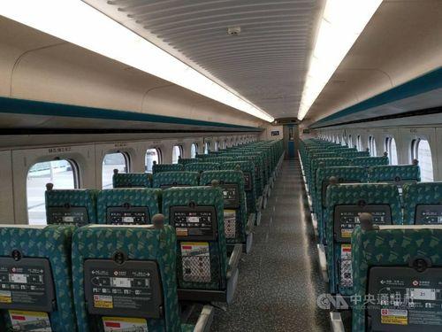 空席が目立つ台湾新幹線の車内=読者提供