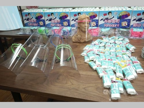 花蓮市から日米韓の7都市に寄贈される支援物資