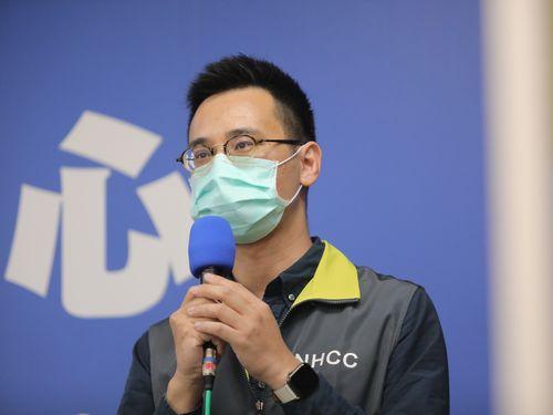 新型コロナの感染力に関する台湾の研究結果について説明する鄭皓元医師=中央感染症指揮センター提供